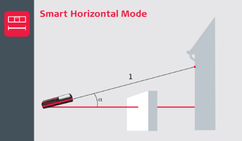 Leica Disto X3 Smart Horizontal Mode