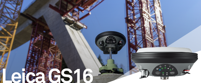 Leica Viva GS16 - Industry leading self-learning GNSS smart antenna.