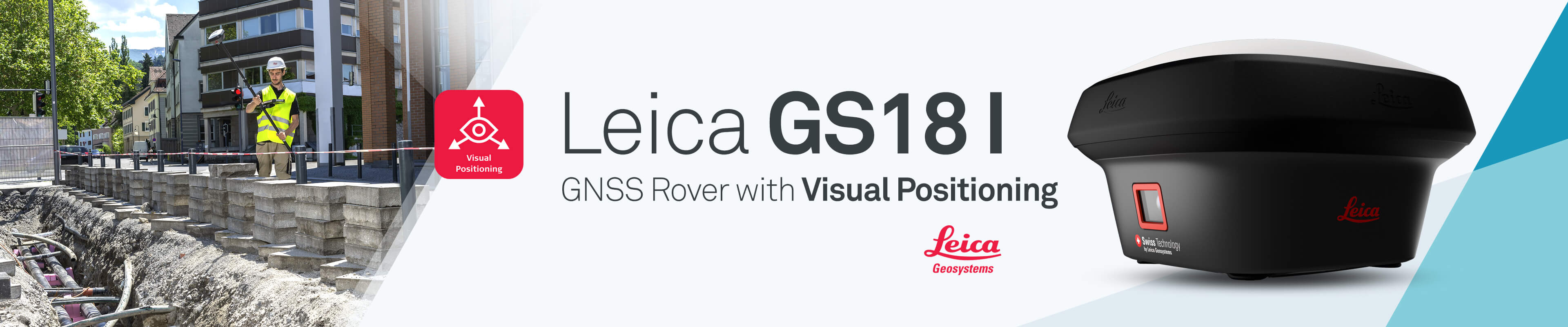 Leica GS18 I - GNSS Rover with Visual Positioning